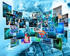 internet cyberspace - stock illustration