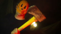 AX murderer killer halloween Stock Footage