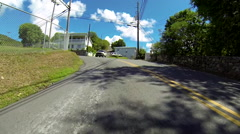 Driving on the highway in the virgin islands Stock Footage