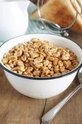 Puffed wheat cereal Stock Photos