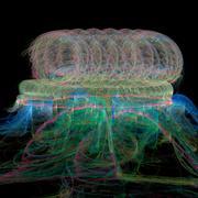 Deep sea Medusa - stock illustration