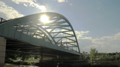 Downtown Denver Bridge (Timelapse) Stock Footage