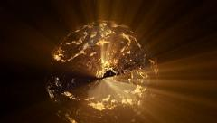 Earth at night with shine Stock Footage