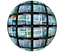 Sphere ball Stock Illustration