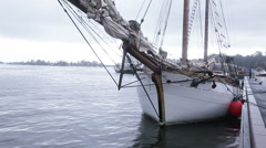 Sailing ship at berth - stock footage