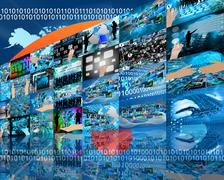 wall high-tech - stock illustration
