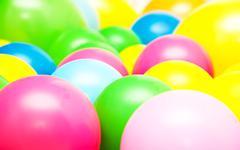 Bright multicolor balloon closeup Kuvituskuvat