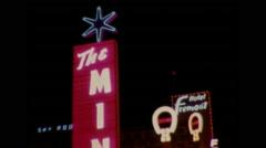 Las Vegas Strip at Night 1964 Stock Footage