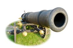 Cannon isolated on white. Stock Photos