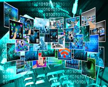 internet cyberspace - stock illustration