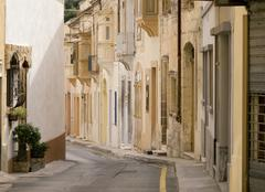 Narrow street, naxxar, malta, europe Stock Photos