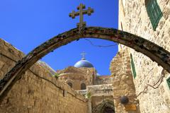 Ethiopian monastery and church of the holy sepulchre, old city, unesco world  Stock Photos