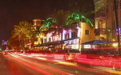 art deco district, ocean drive, south beach, miami beach, florida, united sta - stock photo