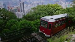 Hong Kong. Peak Tram. Stock Footage