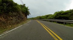 Driving in the united states virgin islands Stock Footage