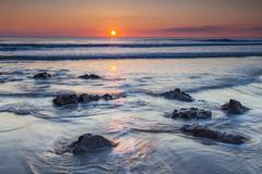 dunraven bay, southerdown, vale of glamorgan, wales, united kingdom, europe - stock photo