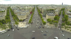 Paris avenues branch off from the Arc de Triomphe - stock footage