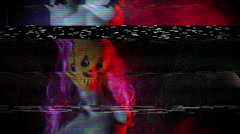 Creepy mannequin distortion weird Stock Footage