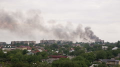 After the Artillery Strike in Donetsk Stock Footage