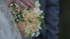 Bridal bouquet - stock footage