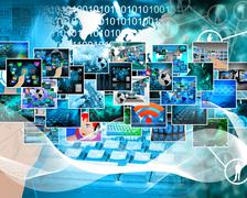 High-tech images Stock Illustration