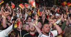 UltraHD 4K Crowd People Celebrating Cheering Goal Germany Team in World Cup 2014 - stock footage