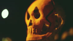 grainy horror skeleton thing scary - stock footage