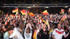 UltraHD 4K Crowd People Celebrating Third Goal Brazil Germany Semifinals Stadium - stock footage