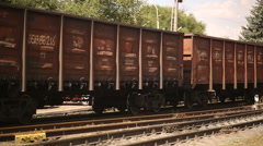 Wagons of a Freight Train Stock Footage