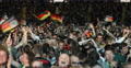 UltraHD 4K Happy Cheerful Football German Spectators Fans Celebrating Goal Men Footage