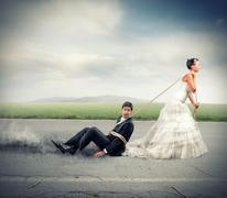 Trapped by marriage Stock Photos