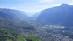 Valais, Switzerland - aerial shots Stock Footage