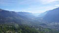 Swiss mountains - from the sky Stock Footage