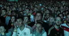 UHD 4K Crowd People Celebrating Stadium Happy Young Supporters Audience Fans - stock footage
