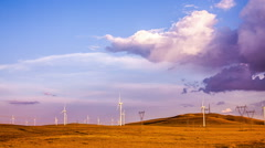 Windpower. Wind turbines - stock footage