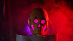 Mask creepy halloween weirdo weird Stock Footage