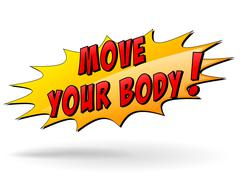 vector move your body icon - stock illustration
