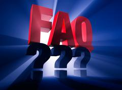 Brightly backlit faq over questions Stock Illustration
