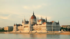 The building of the Parliament in Budapest, Hungary Stock Footage