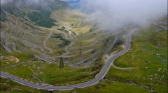 Transfagarasan mountain road, Romanian Carpathians. Timelapse Stock Footage