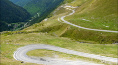 Transfagarasan mountain road, Romanian Carpathians. Timelapse - stock footage