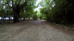 Driving on the roads of the virgin islands Stock Footage
