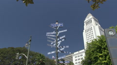 Sister cities of Los Angeles - stock footage