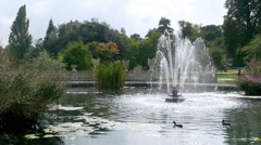 Fountain at the Italian Garden in Kensington Gardens, London. Stock Footage