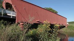 HD Stock 1080p - Bridges of Madison County wide view Stock Footage