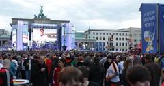 Ultra HD 4K UHD German Football Team Fans Germany Algeria World Cup Berlin Day - stock footage