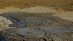 Slow Eruption of Volcano Mud Stock Footage