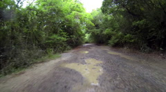 Driving through the united states virgin islands - stock footage