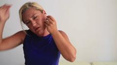 Ear pain Stock Footage