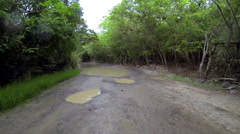 Riding on the roads of the virgin islands Stock Footage